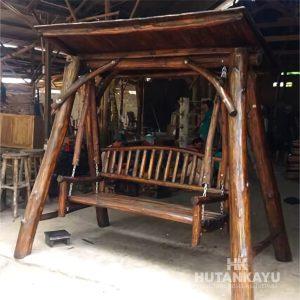 AYN002 Ayunan Antik Jati 2 Dudukan Hutankayu Furniture Jepara Handycraft Mebel Meubel Jati Murah Jepara