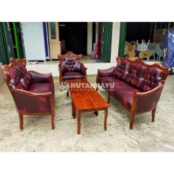 Sofa Tamu Klasik Jati Red