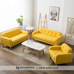Sofa Set Minimalis Retro Scandinavian
