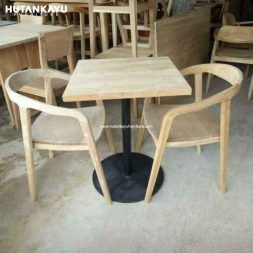 Meja Makan Cafe Kotak Selly Hutankayu Furniture Mebel Jati Jepara