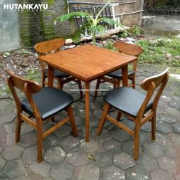 Meja Makan Cafe Set Hutankayu Furniture Mebel Jati Jepara 01
