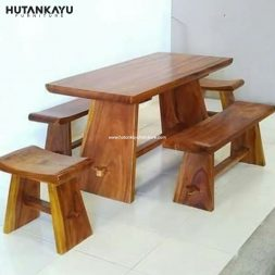 Meja Makan Trembesi Model Sate Hutankayu Furniture Mebel Jati Jepara 02